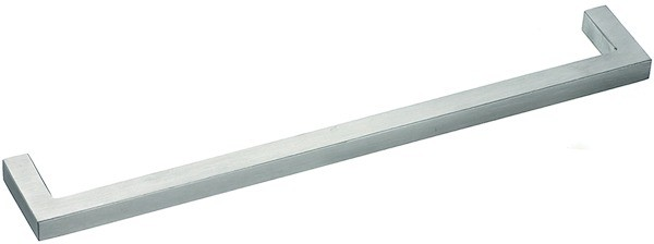 Gehrungsgriff Edelstahl 10x10mm, matt gebürstet