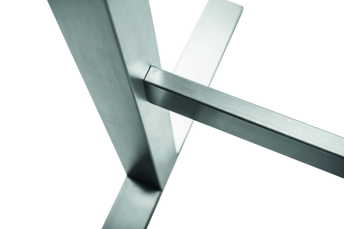 Tischgestell design 3 edelstahl matt geschliffen design for Tischgestell design