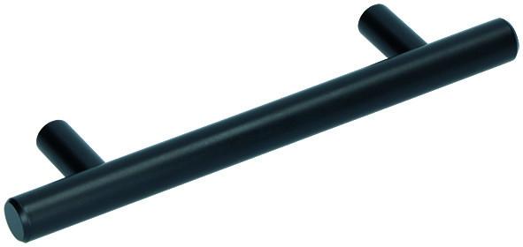 Möbelgriff 12mm - Schwarz Epoxidharz beschichtet
