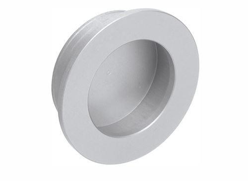Muschelgriff rund, flacher Rand, Aluminium eloxiert-massive Auführung