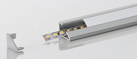 LED Leuchtenprofil 20 x 15, Länge 2000mm