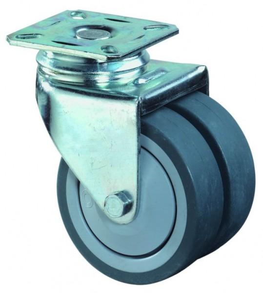 Apparate - Doppel Lenkrollen, Bel. 60kg.