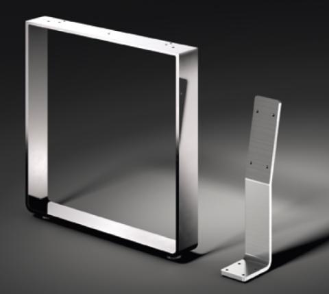 kufen f r sitzbank profil 60x8mm verchromt oder edelstahl kufen f r tische und b nke tisch. Black Bedroom Furniture Sets. Home Design Ideas