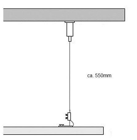 Seilabhängung für LED Leuchte Eagle Plan