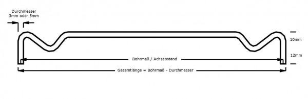 Schwedenträger Edelstahl Maßfertigung, Durchmesser 3/5mm