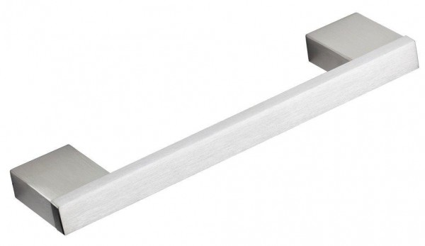 Flachbandsockelgriff Edelstahl gebürstet, Profil 12x6mm, Maßfertigung