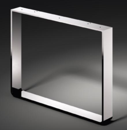 Kufen für Sideboard, Profil 60x8mm, verchromt oder Edelstahl