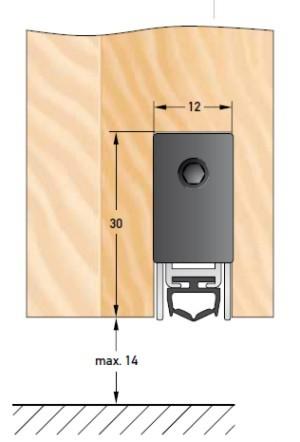DBS 1230 selbstregulierende, automatische Bodentürdichtung