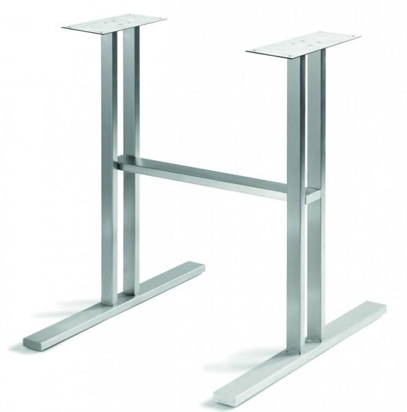 Tischgestell design 1 edelstahl matt geschliffen design for Tischgestell design
