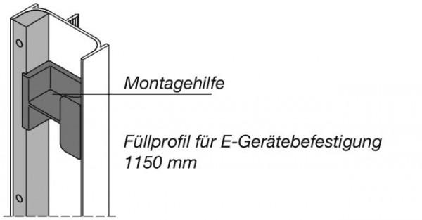 Füllprofil für vertikale Griffmulden