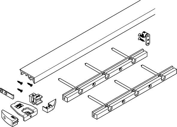 Hawa Concepta Folding - Bodenprofil 1300mm