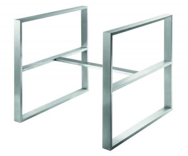 Tischgestell Design 2, Edelstahl matt geschliffen