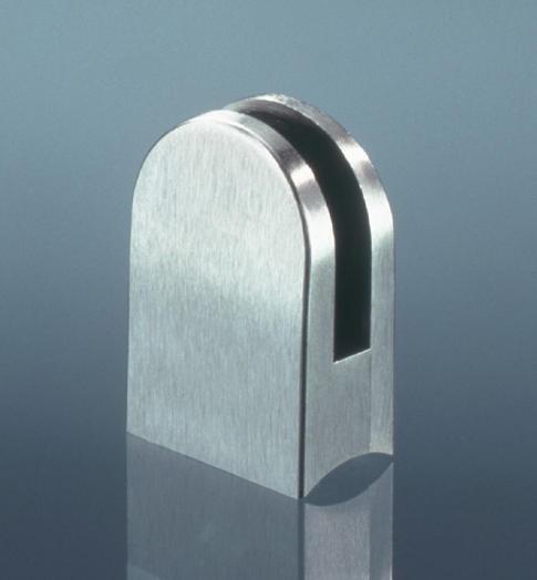 Glasklemmhalter Edelstahl V2A für Rundrohre 30mm und 40mm