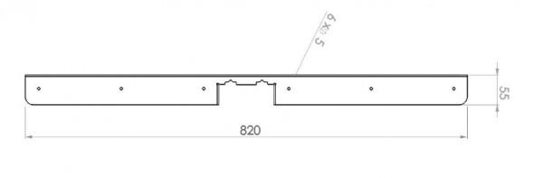 Schwinge für T-Fuß Gestell, Tischplatten ab 800m
