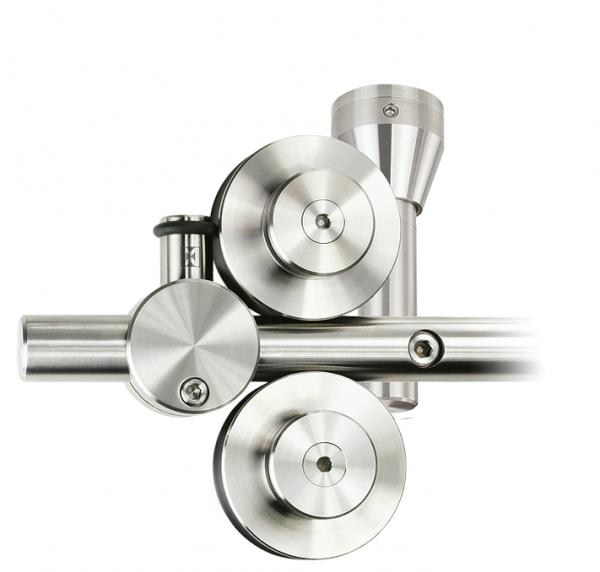 Schiebetürbeschlag Twin - Set für Glastüren mit Stärke 8-12,7mm