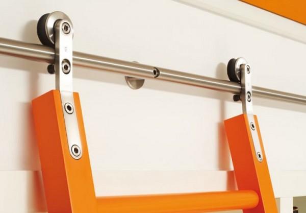 Rollwagen Edelstahl für selbst gefertigte Holzleiter / Stk.