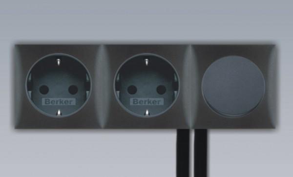 Einbau Schalter - Steckdose 3-fach Kombination