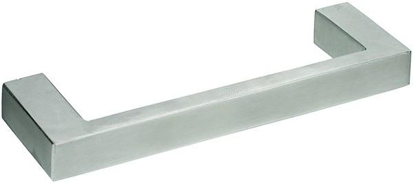 Gehrungsgriff Edelstahl 12x6mm, matt gebürstet