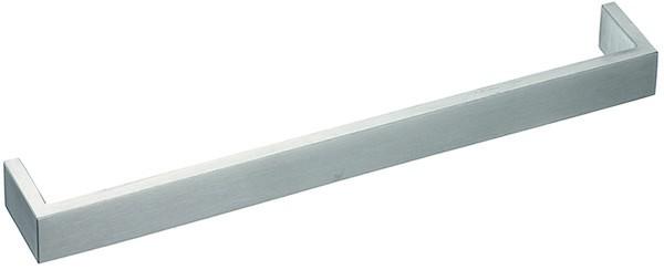 Gehrungsgriff Edelstahl 20x6mm, matt gebürstet