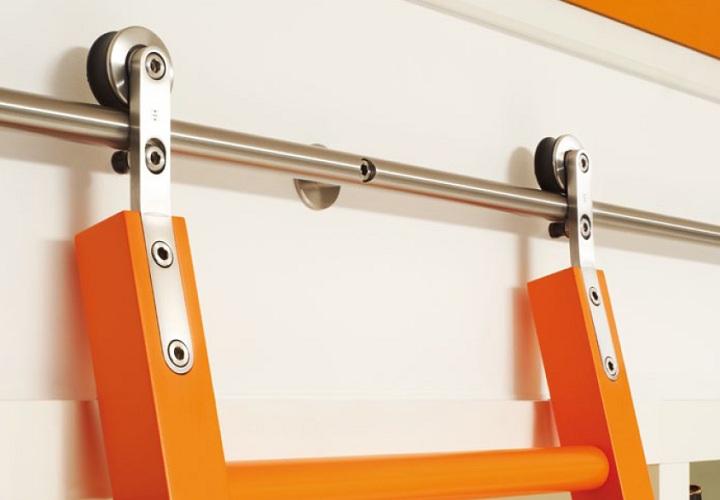 rollwagen edelstahl f r selbst gefertigte holzleiter stk bibliotheksleitern bfb gmbh. Black Bedroom Furniture Sets. Home Design Ideas