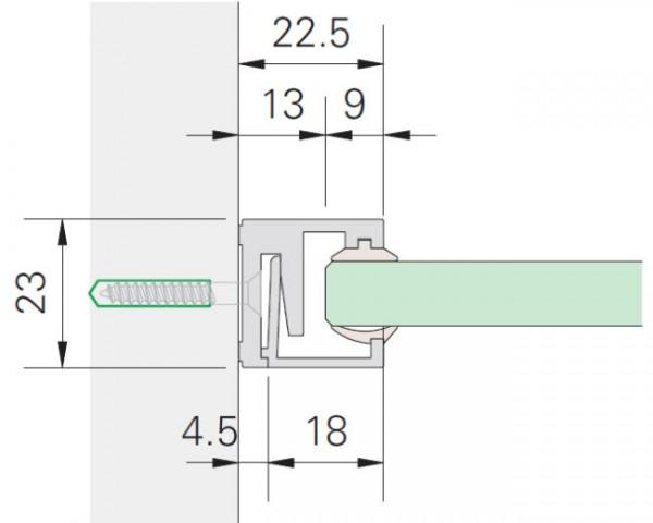 Glasrahmenprofil MR 22 Maßfertigung