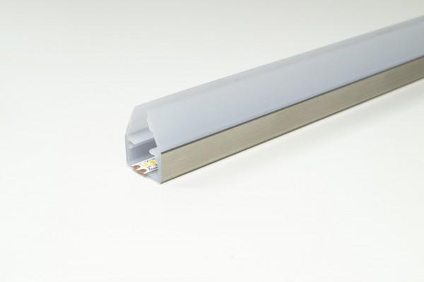 LED Anbau-Glaskantenprofil Fly Länge: 2500mm (Artikelnummer 2000362)