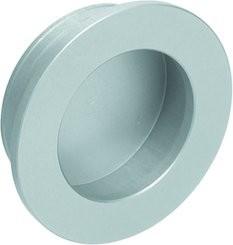 Muschelgriff rund, flacher Rand, Aluminium eloxiert