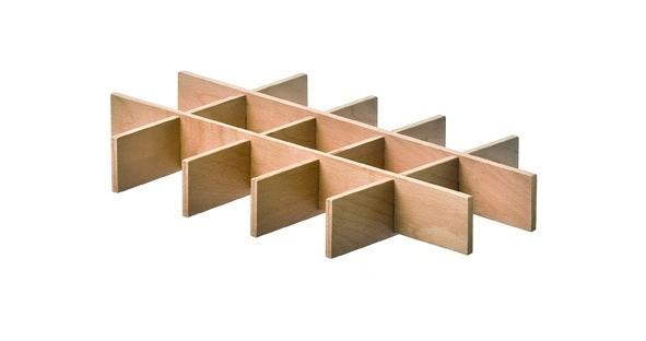 Holzeinteilung zu Blechablagekorb VIBO