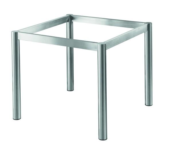Tischgestell Basic 2 Round, Edelstahl matt geschliffen-Copy