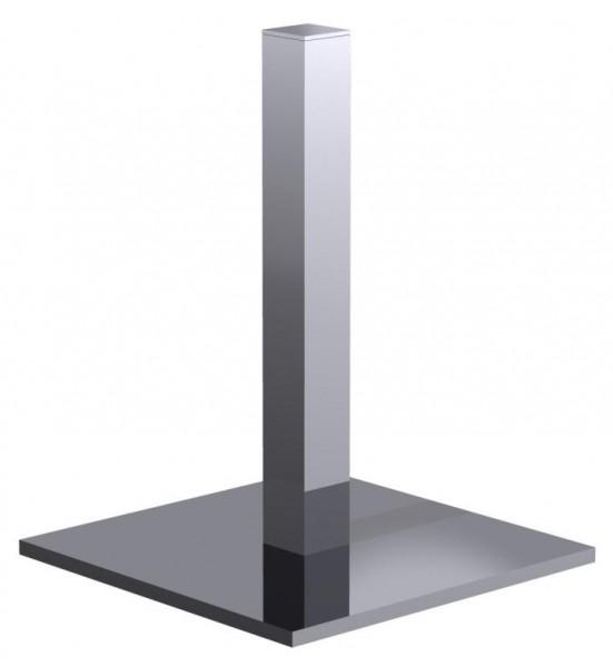 Einsäulen Tischgestell Edelstahl für Glasplatten