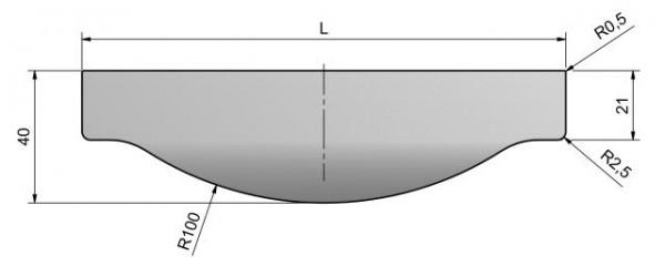 Griffleisten Typ K, Aluminium E-Finish