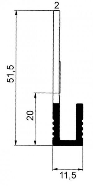 Griffleisten für EKU Combino 45/60 GR, Lagerlängen 2,5 / 6,0m