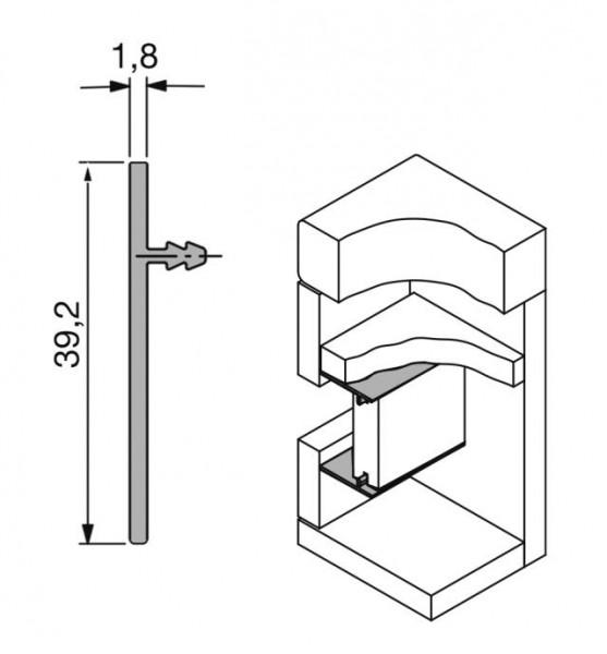 Abdeckprofil für horizontale Grifflösungen