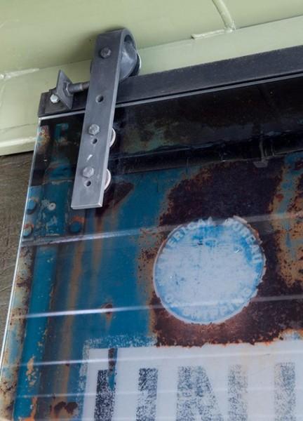 Schiebetürbeschlag Stahl - Set für Glastüren mit Stärke 10mm