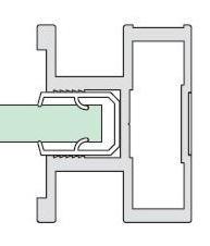 Gleitschiebetüren Alpha Profil ST 2000 - Maßfertigung