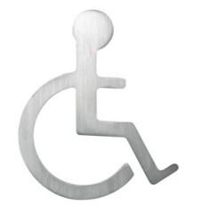 Piktogramm Rollstuhlfahrer Edelstahl matt