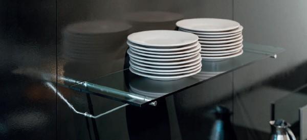 Tablarträger Stahl mit Abstützung, Wand- und Paneelmontage