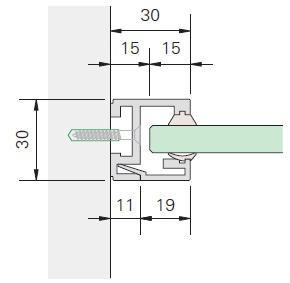 Glasrahmenprofil MR 30 Lagerlängen