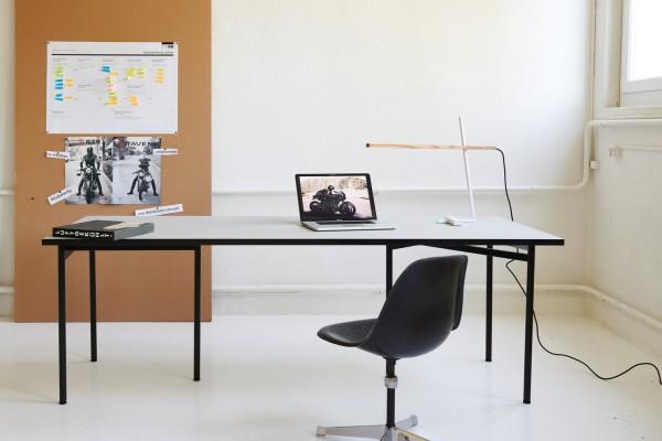 WTB Tischgestell Stahl Schwarz matt (1 Fuß)