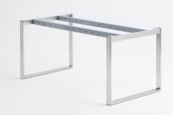 Tischgestell Kufensystem, Rechteckrohr 60x20mm