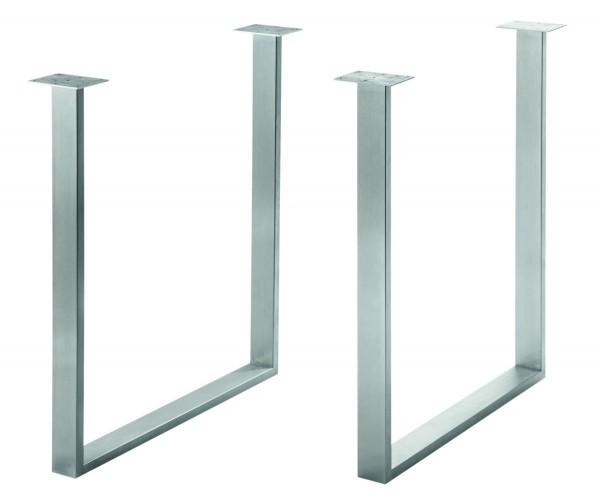 Tisch- und Bankgestell Flex, Edelstahl matt geschliffen (1Paar)