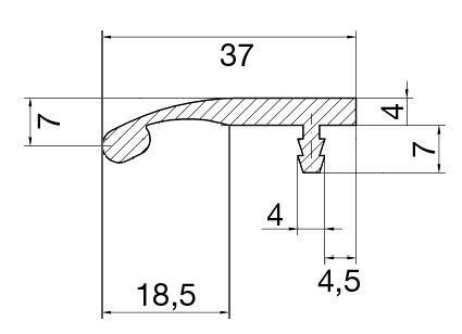 Griffleisten Typ S 196 Lagerlänge 2,5m, EV1 und E-Finish